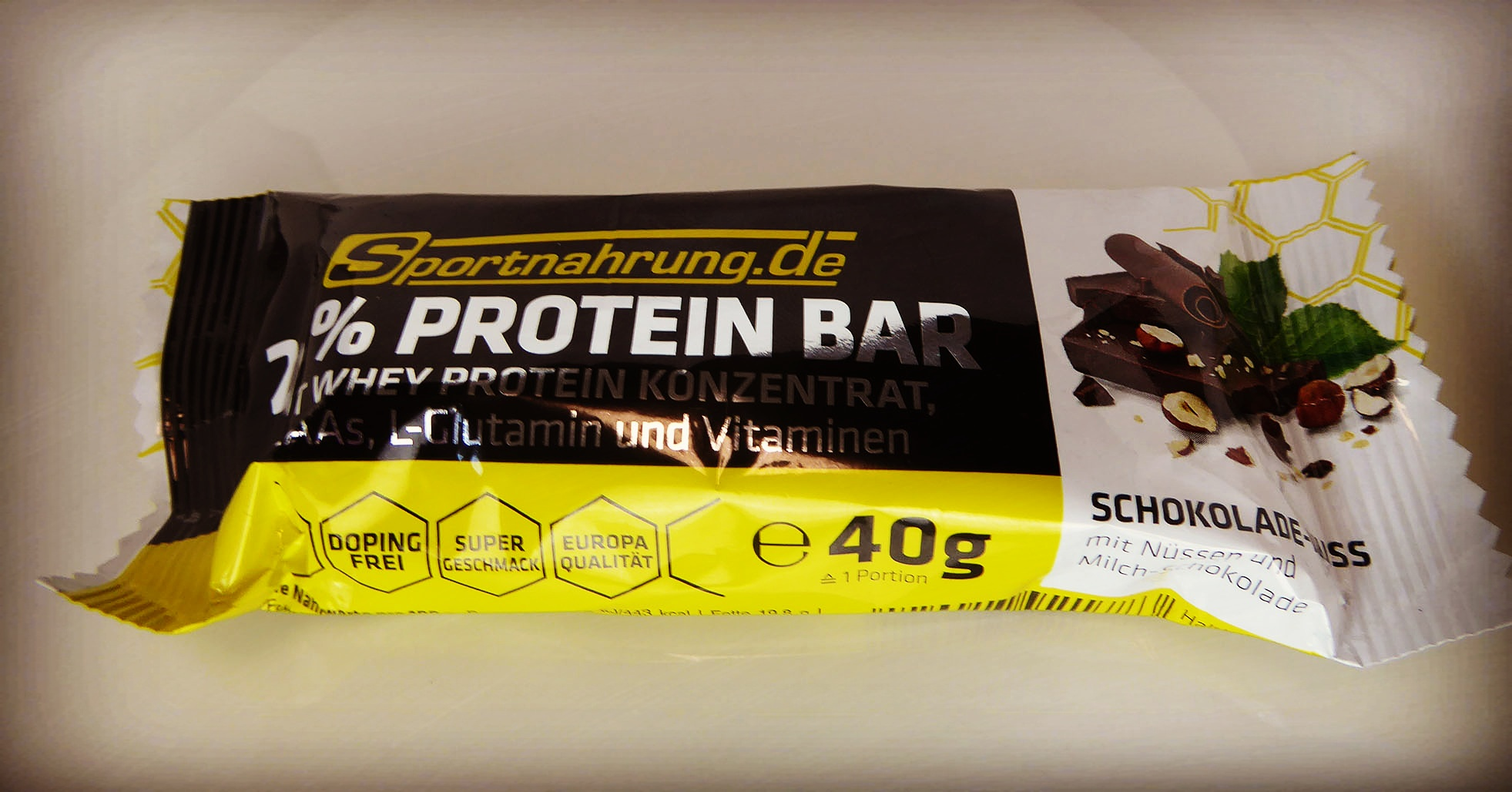 Sportnahrung Schokolade Nuss Protein Riegel Bar