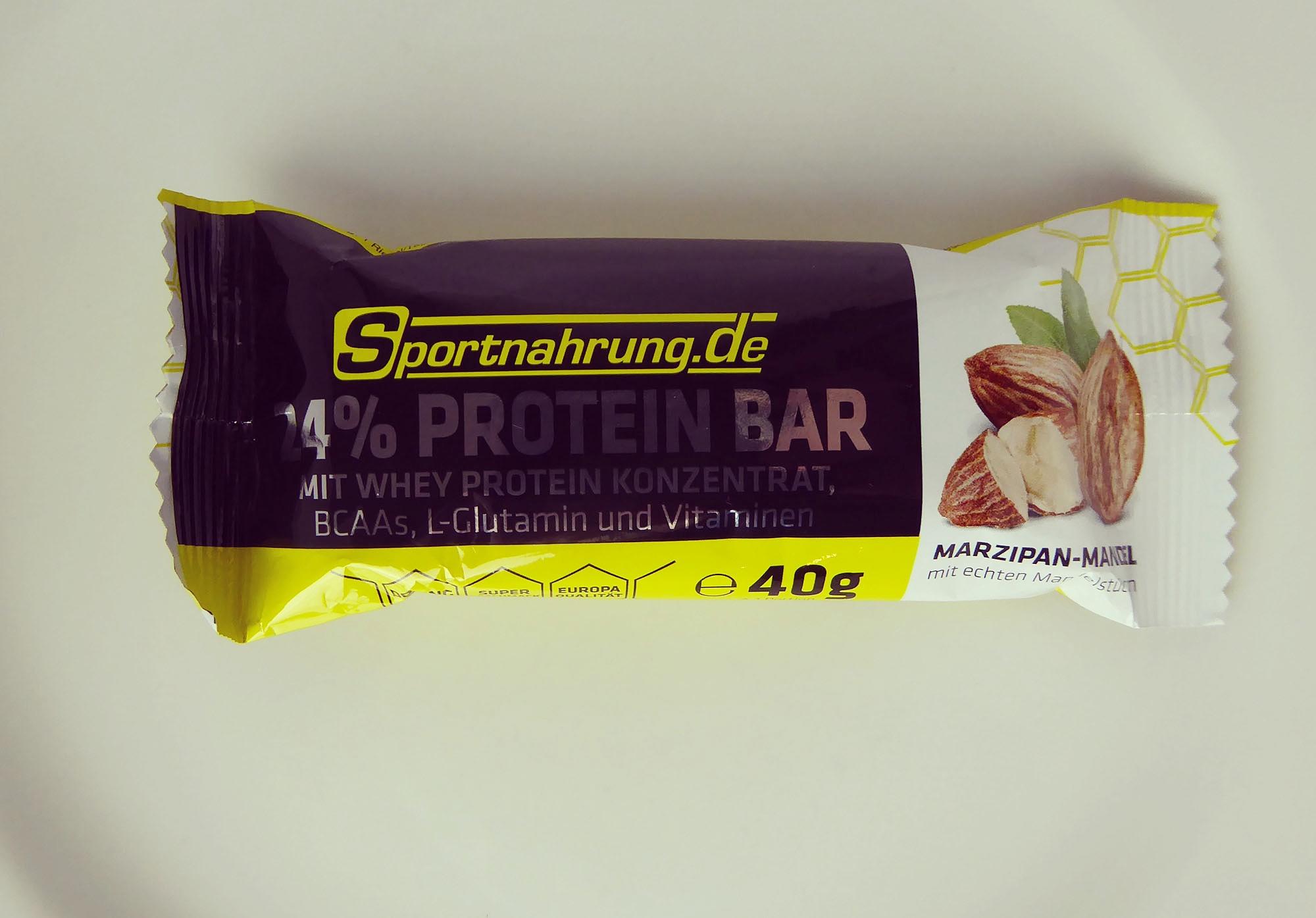 Sportnahrung Protein Riegel Marzipan Mandel