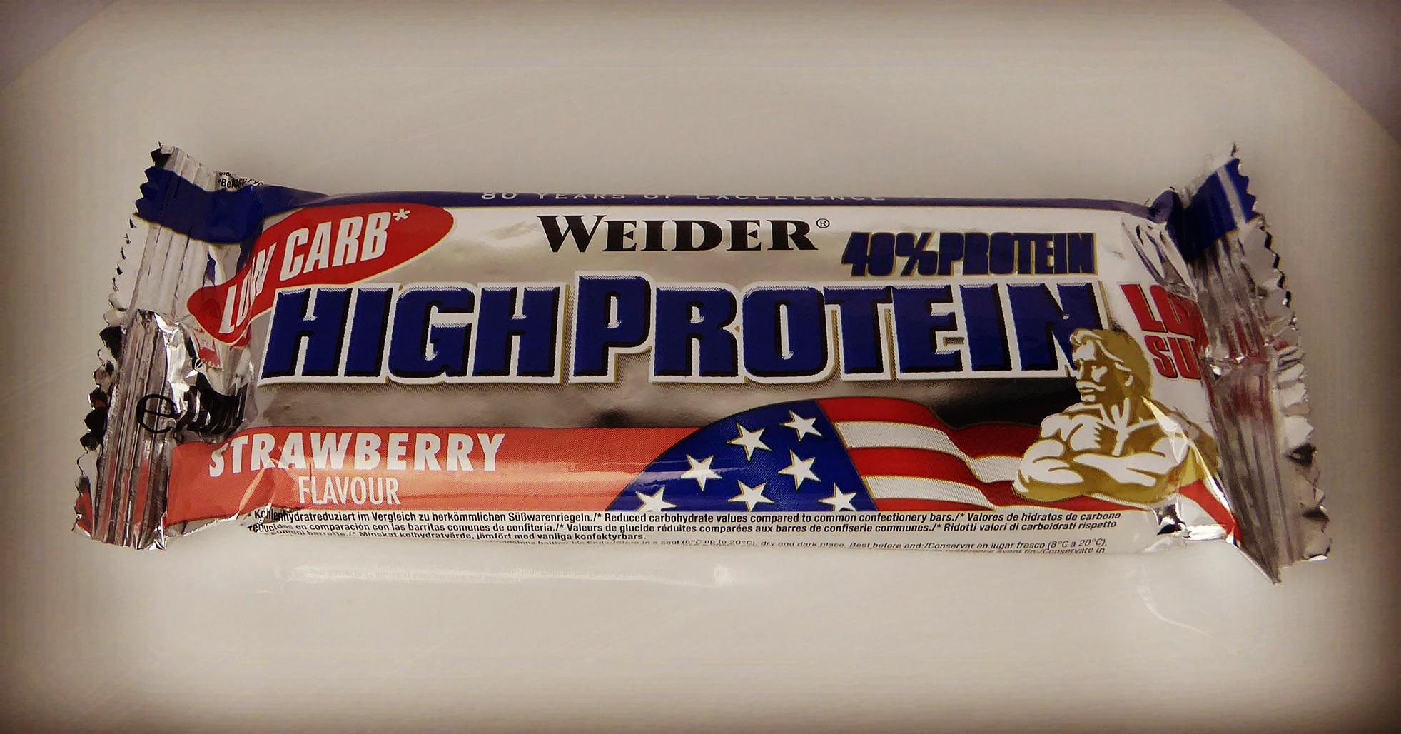 Weider High Protein Riegel Erdbeer Proteinriegel