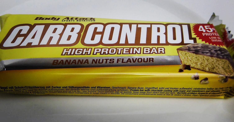 Body Attack Carb Control Protein Riegel Proteinbar Banane Nuss Geschmack