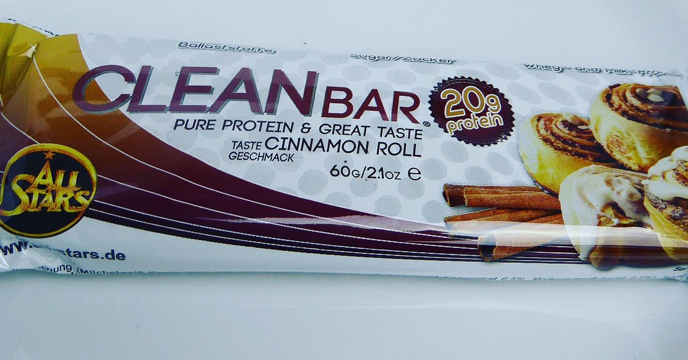 cleanbar zimt proteinriegel