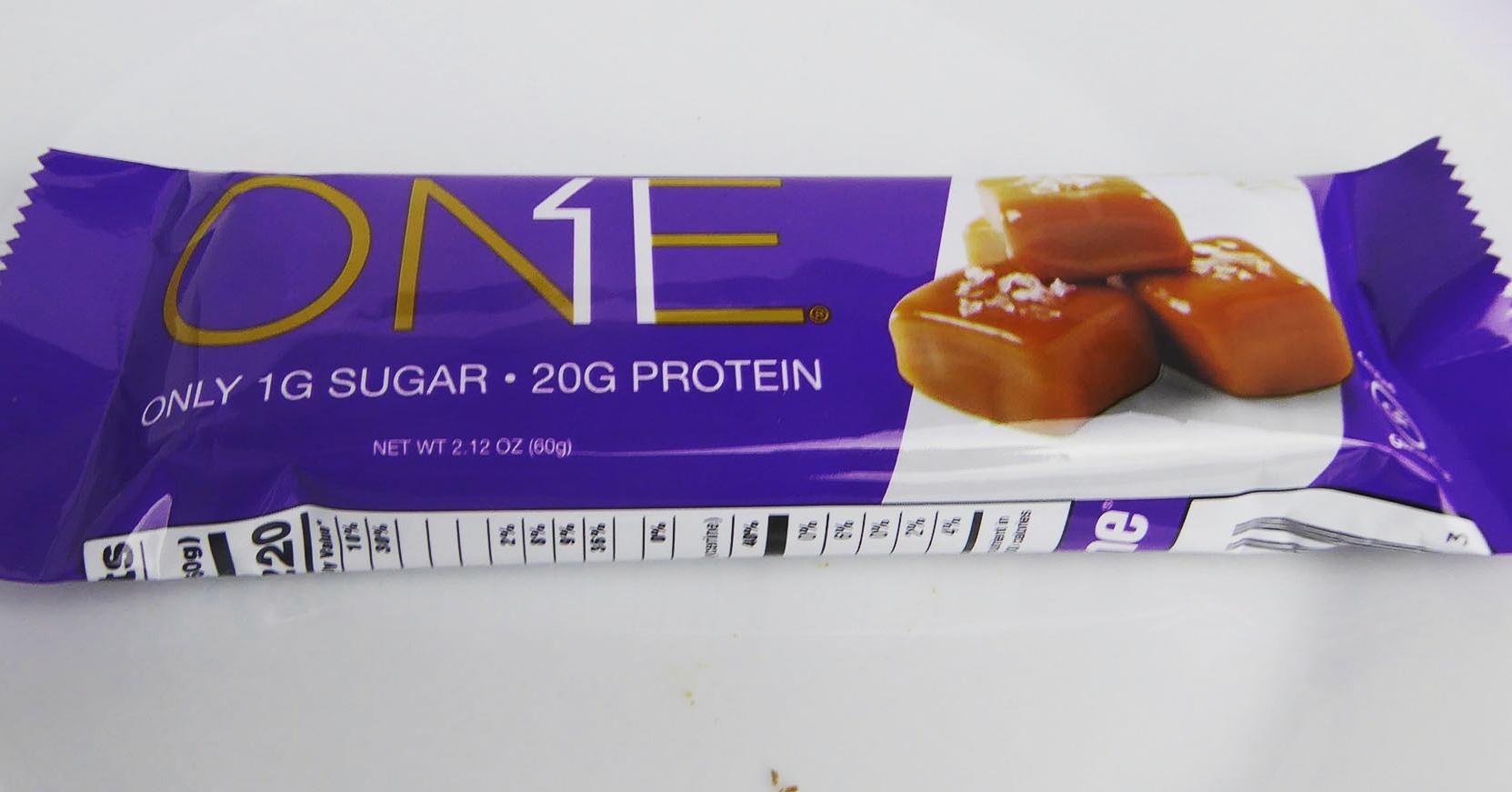 One Salted Caramel Proteinriegel Protein Bar