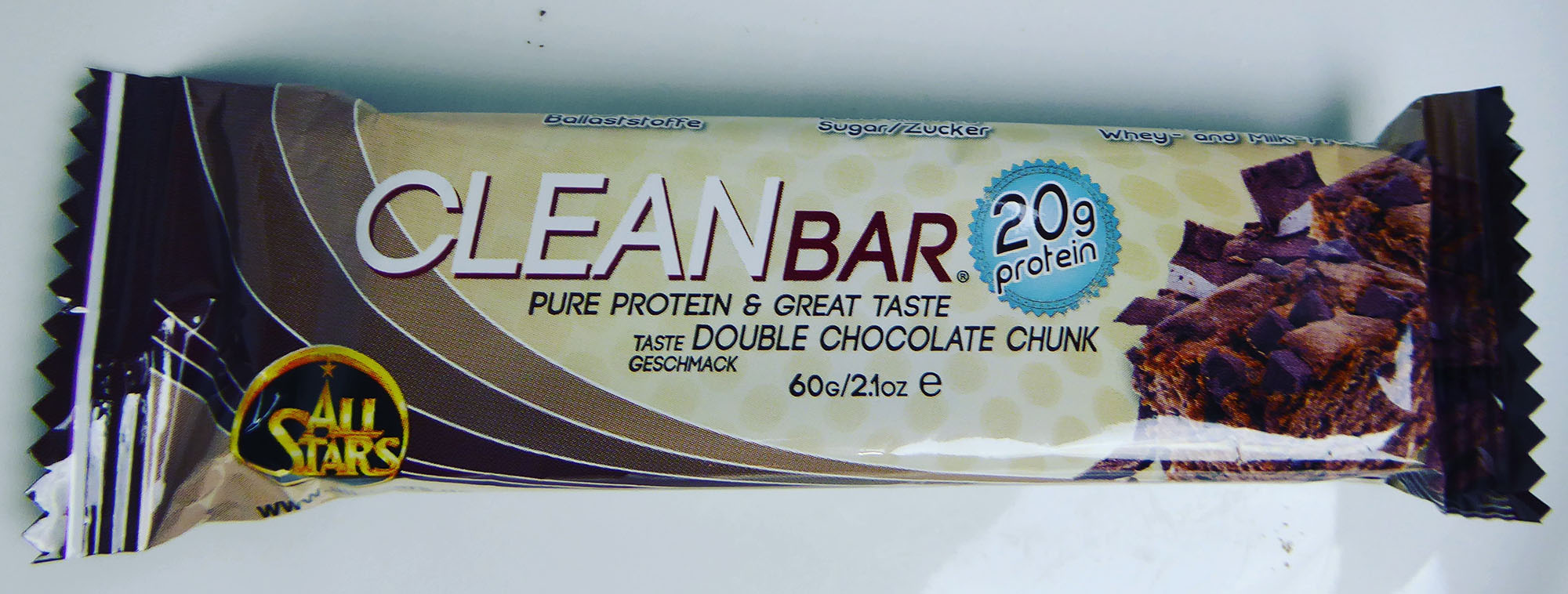 AllStars Cleanbar Double Chocolate Chunk Protein Bar Doppelte Schokolade Proteinriegel Eiweißriegel