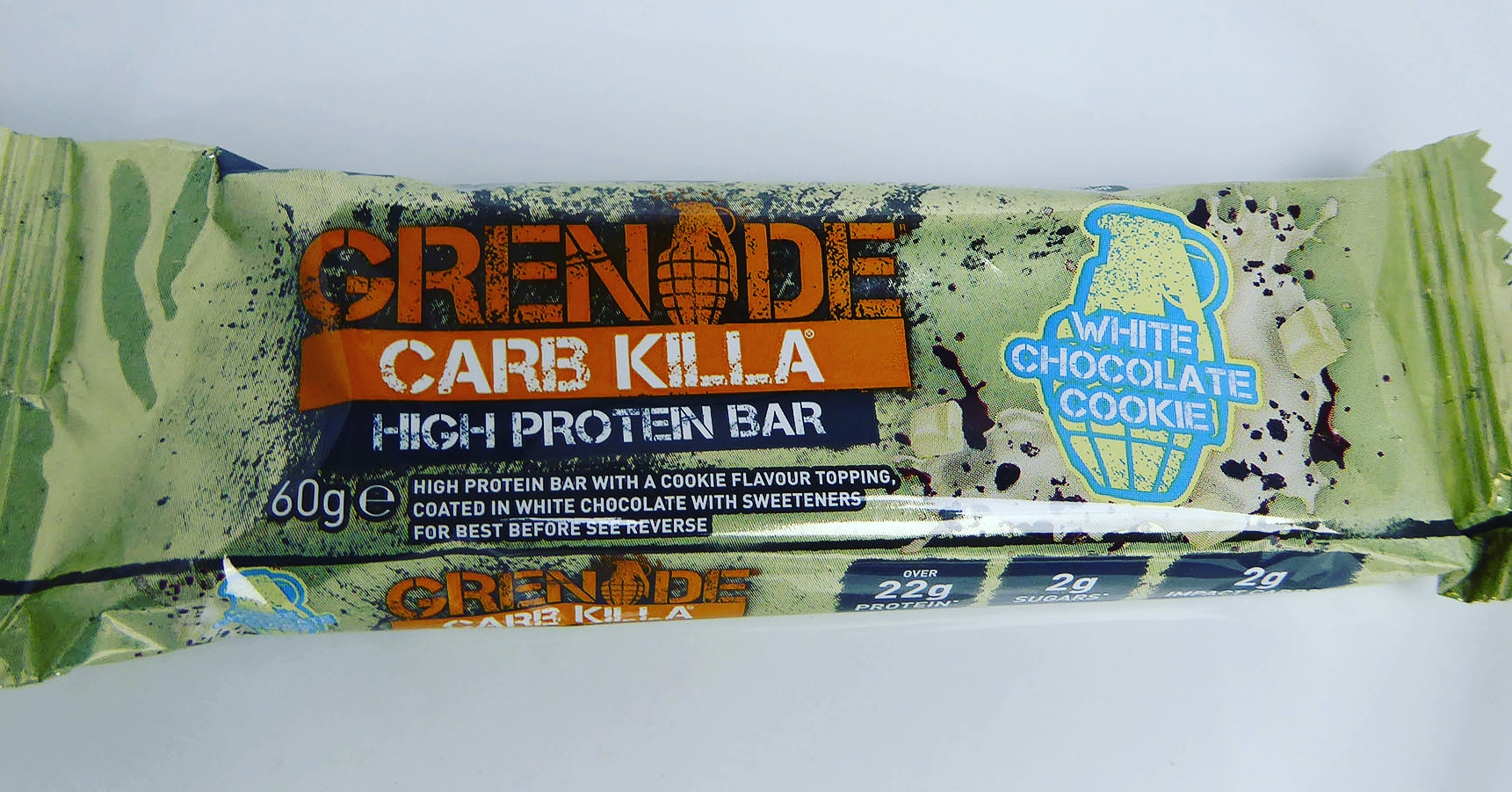 Grenade Carb Killa High Protein Bar White Chocolate Cookie Proteinriegel Eiweißriegel Weisse Schokolade