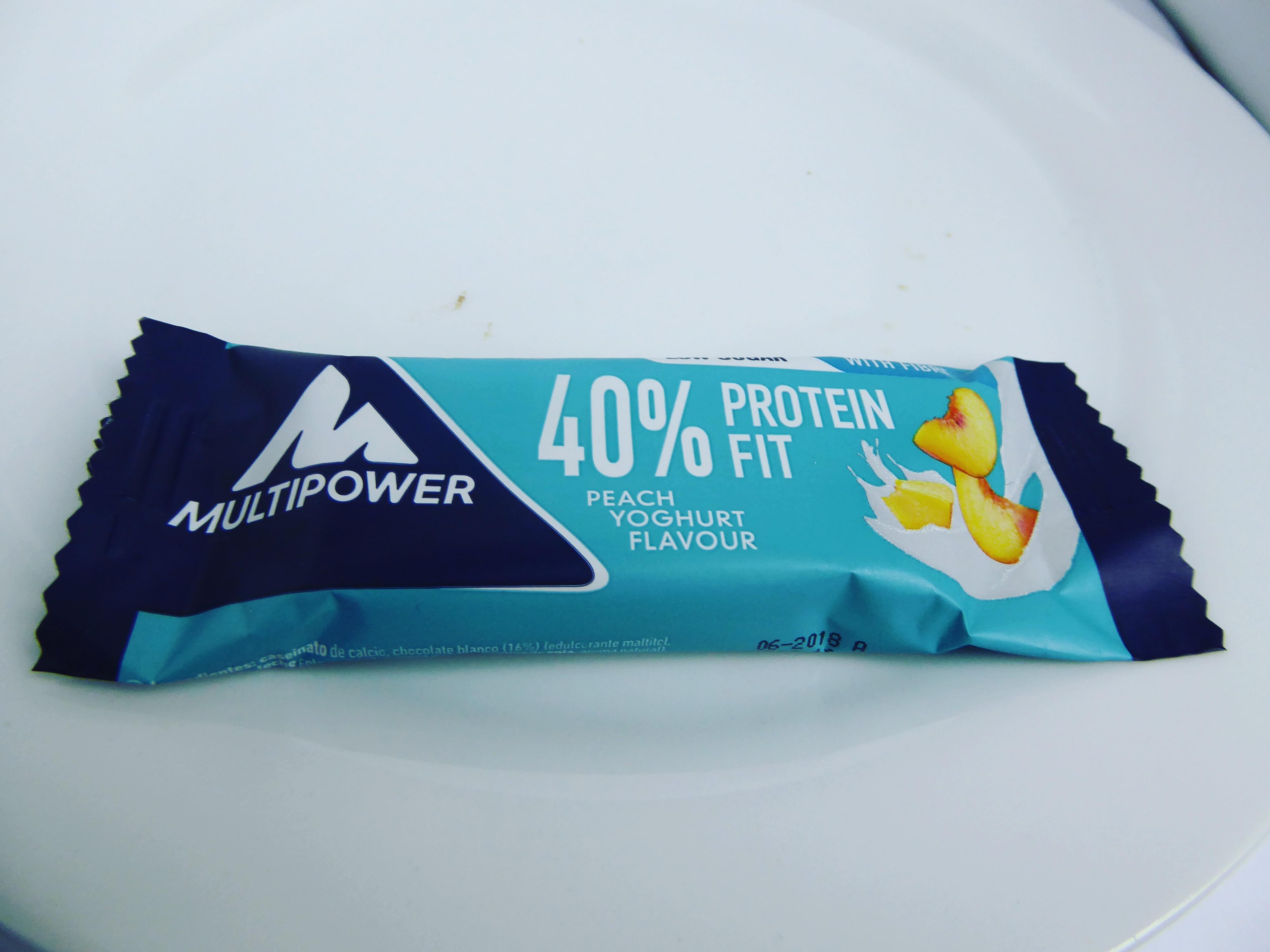 Multipower Protein Bar Peach Yoghurt Marille Pfirsich Joghurt Proteinriegel Eiweißriegel