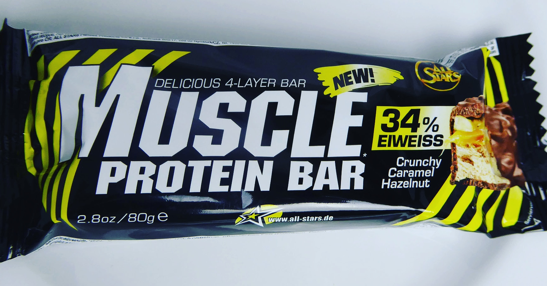 AllStars Muscle Protein Bar Crunchy Caramel Hazelnut