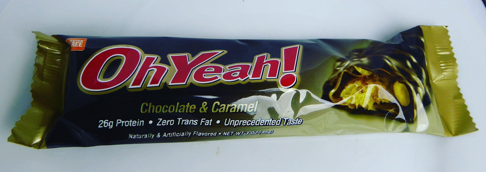 OhYeah! Protein Bar Chocolate Caramel Schokolade Proteinriegel Eiweißriegel