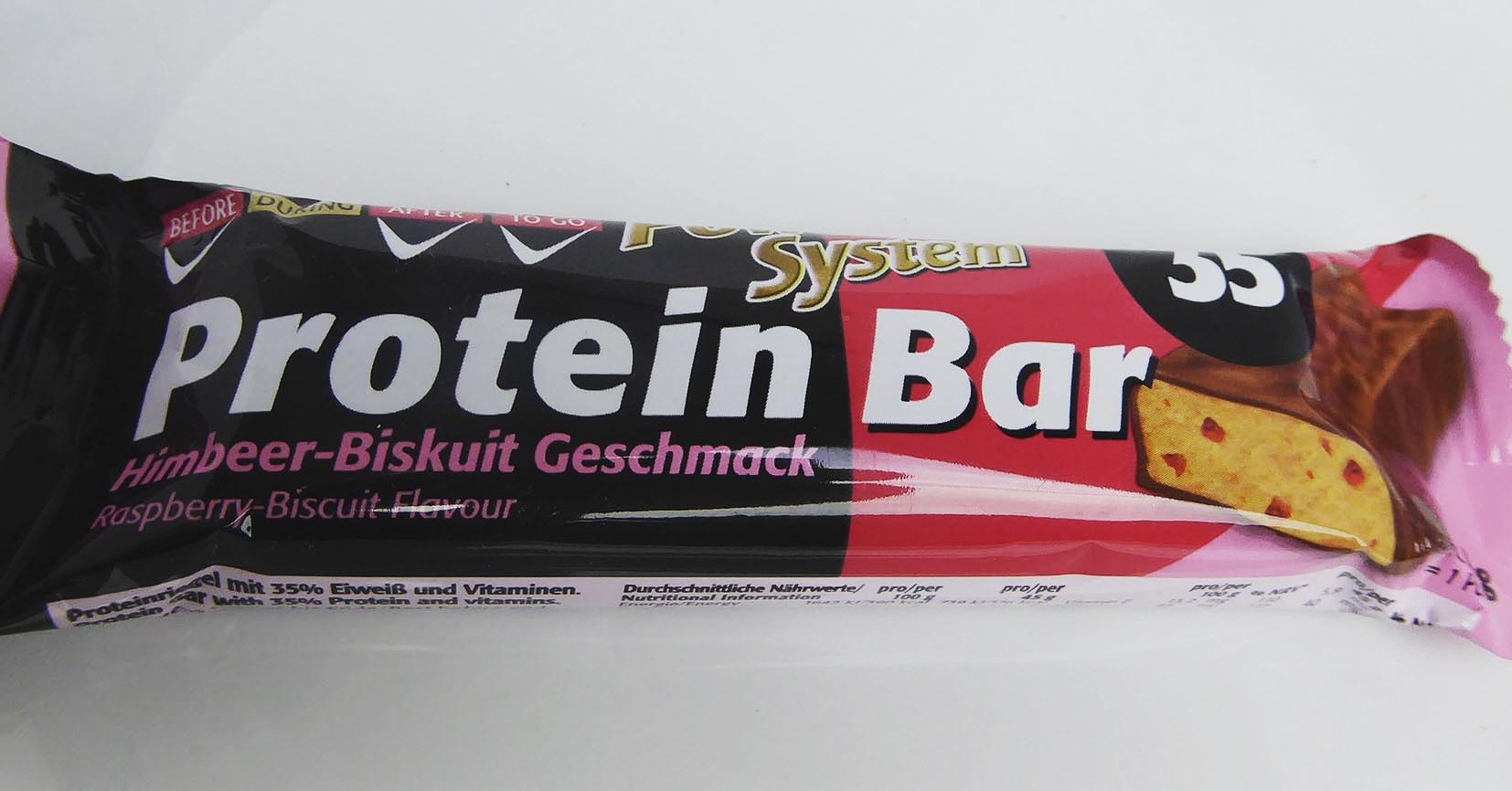 Power System Protein Bar Himbeer Biskuit Geschmack Proteinriegel Eiweißriegel