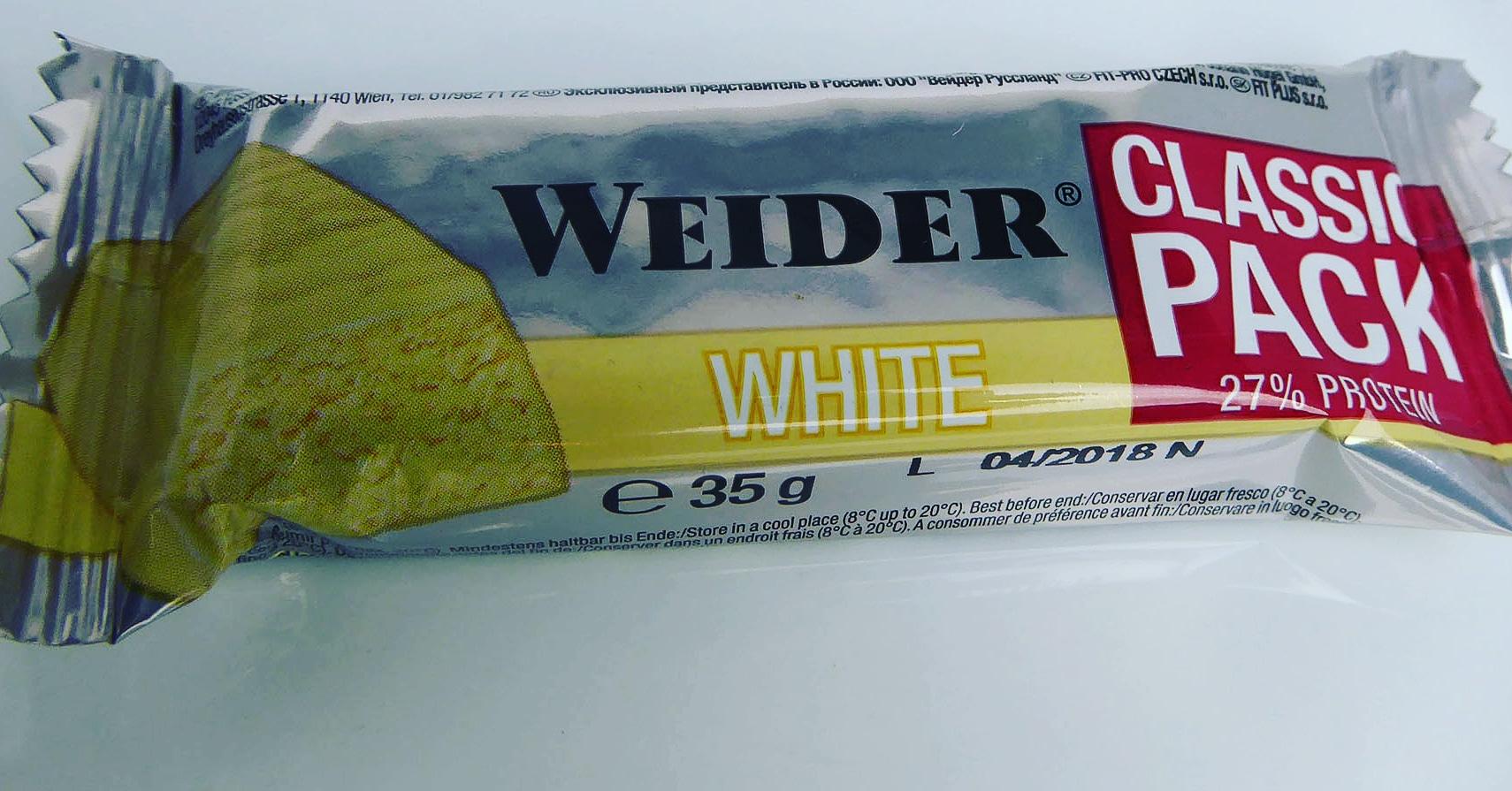 Weider Classic Pack White Proteinriegel Eiweißriegel