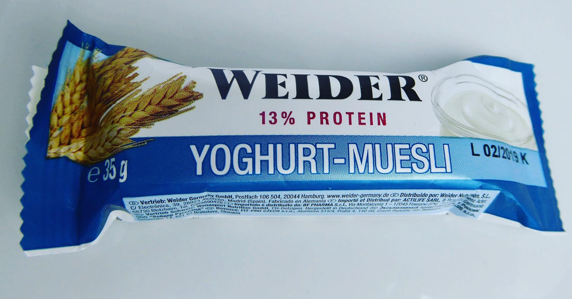 Weider Yoghurt Muesli Protein Bar Joghurt Müsli Eiweißriegel Proteinriegel