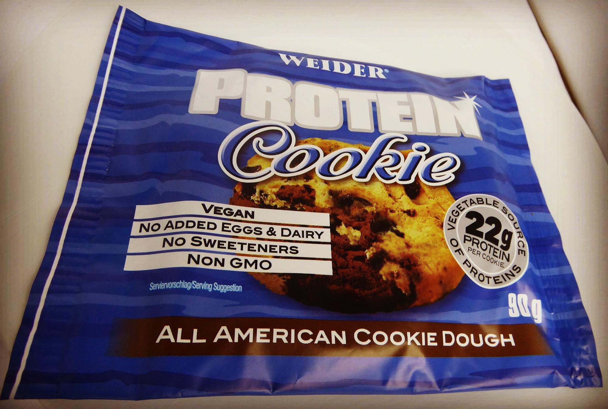 Weider Protein Keks Cookie Vegan All American Cookie Dough