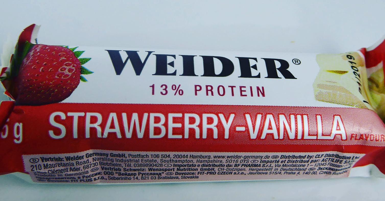 Weider Protein Bar Strawberry Vanilla Proteinriegel Eiweißriegel Erdbeere Vanille